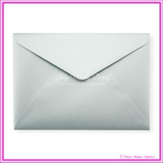 Metallic Pearl Silver 125gsm - C5 Envelopes