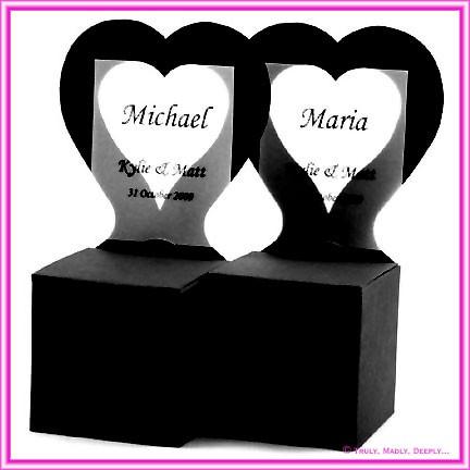 Bomboniere Heart Chair Box - Starblack Matte Black