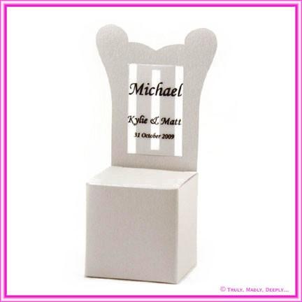 Bomboniere Throne Chair Box - Curious Metallics Lustre
