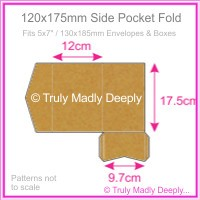 120x175mm Pocket Fold - Buffalo Kraft Board 283gsm