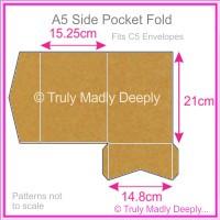 A5 Pocket Fold - Buffalo Kraft Board 283gsm
