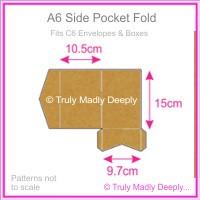 A6 Pocket Fold - Buffalo Kraft Board 283gsm