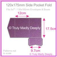 120x175mm Pocket Fold - Classique Metallics Orchid