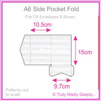 A6 Pocket Fold - Classique Striped White