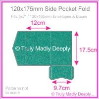 120x175mm Pocket Fold - Classique Metallics Turquoise