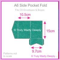 A6 Pocket Fold - Classique Metallics Turquoise