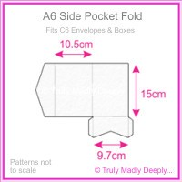 A6 Pocket Fold - Cottonesse Bright White 360gsm