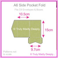 A6 Pocket Fold - Cottonesse Country Green 250gsm