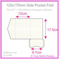 120x175mm Pocket Fold - Cottonesse Natural White 250gsm