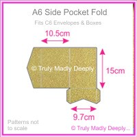A6 Pocket Fold - Crystal Perle Metallic Antique Gold