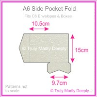 A6 Pocket Fold - Crystal Perle Metallic Antique Silver