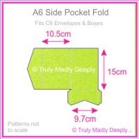 A6 Pocket Fold - Crystal Perle Metallic Apple Green