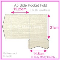 A5 Pocket Fold - Crystal Perle Metallic Arctic White Lumina