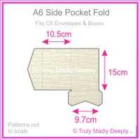 A6 Pocket Fold - Crystal Perle Metallic Arctic White Lumina