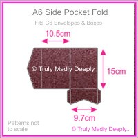 A6 Pocket Fold - Crystal Perle Metallic Berry Purple