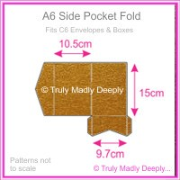 A6 Pocket Fold - Crystal Perle Metallic Bronze