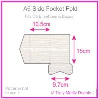 A6 Pocket Fold - Crystal Perle Metallic Diamond White Lumina