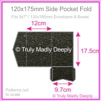 120x175mm Pocket Fold - Crystal Perle Metallic Glittering Black