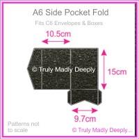 A6 Pocket Fold - Crystal Perle Metallic Glittering Black