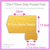 120x175mm Pocket Fold - Crystal Perle Metallic Gold