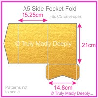 A5 Pocket Fold - Crystal Perle Metallic Gold