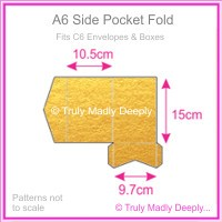 A6 Pocket Fold - Crystal Perle Metallic Gold