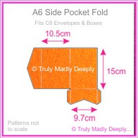A6 Pocket Fold - Crystal Perle Metallic Orange