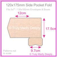 120x175mm Pocket Fold - Crystal Perle Metallic Pastel Pink