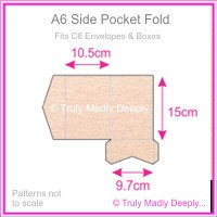A6 Pocket Fold - Crystal Perle Metallic Pastel Pink