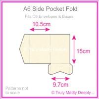 A6 Pocket Fold - Crystal Perle Metallic Sandstone
