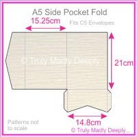 A5 Pocket Fold - Crystal Perle Metallic Sandstone Lumina