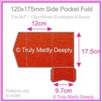 120x175mm Pocket Fold - Crystal Perle Metallic Scarlet Red