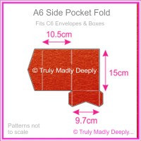 A6 Pocket Fold - Crystal Perle Metallic Scarlet Red
