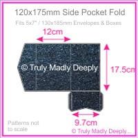 120x175mm Pocket Fold - Crystal Perle Metallic Sparkling Blue