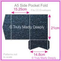 A5 Pocket Fold - Crystal Perle Metallic Sparkling Blue