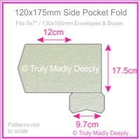 120x175mm Pocket Fold - Crystal Perle Metallic Steele