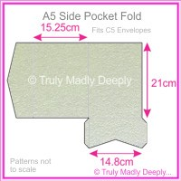 A5 Pocket Fold - Crystal Perle Metallic Steele
