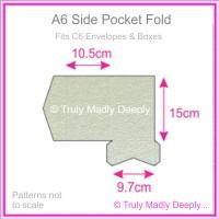 A6 Pocket Fold - Crystal Perle Metallic Steele