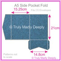 A5 Pocket Fold - Curious Metallics Blue Print
