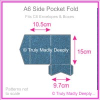 A6 Pocket Fold - Curious Metallics Blue Print