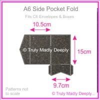 A6 Pocket Fold - Curious Metallics Chocolate