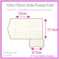 120x175mm Pocket Fold - Curious Metallics Cryogen White