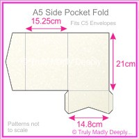 A5 Pocket Fold - Curious Metallics Cryogen White