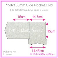 150mm Square Side Pocket Fold - Curious Metallics Galvanised