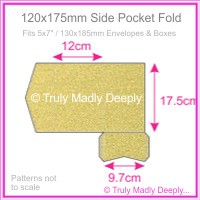 120x175mm Pocket Fold - Curious Metallics Gold Leaf