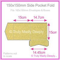 150mm Square Side Pocket Fold - Curious Metallics Gold Leaf