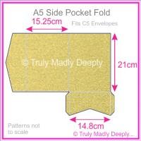 A5 Pocket Fold - Curious Metallics Gold Leaf