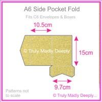 A6 Pocket Fold - Curious Metallics Gold Leaf
