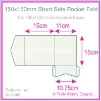 150mm Square Short Side Pocket Fold - Curious Metallics Ice Gold