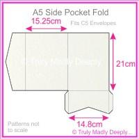 A5 Pocket Fold - Curious Metallics Ice Gold